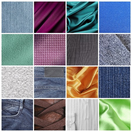 Different fabric textures in close-up Stock Photo - 8188821