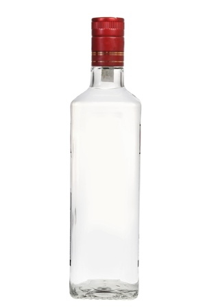 gin: Bottle of vodka isolated on white background Stock Photo