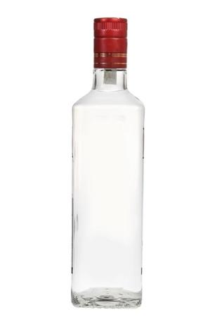 vodka: Bottle of vodka isolated on white background Stock Photo