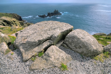 Beautiful coastal landscape in Lands End, UK   photo