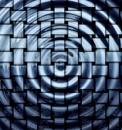 Abstract hypnotic rippled and tiled background  photo