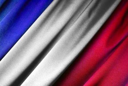France - French flag in close-up photo