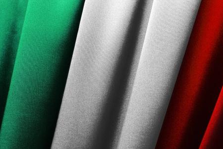 Italy - Italian flag in close-up Stock Photo - 9430512