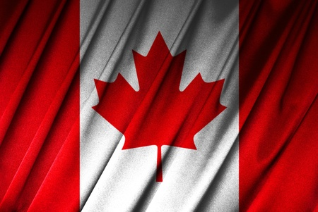 Canada - Canadian flag in close-up Stock Photo - 9430508