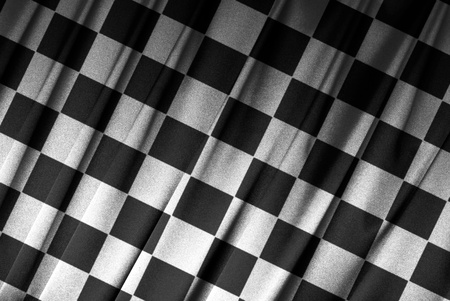 Close-up of a checkered flag