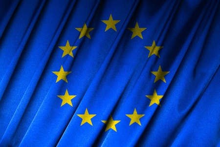 Flag of European Union in close-up Stock Photo - 9430511