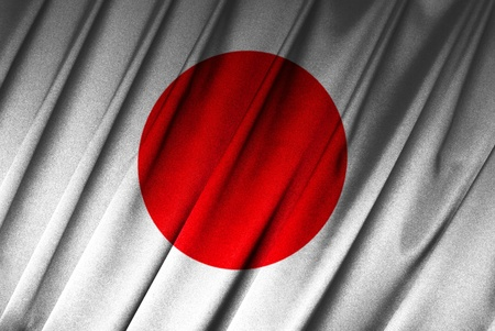 Japan - Japanese flag in close-up Stock Photo - 9430510