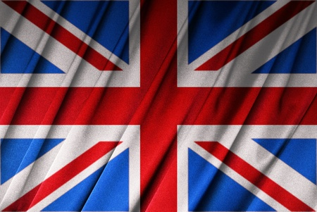 British flag known as the Union Jack on cloth Stock Photo - 9430507