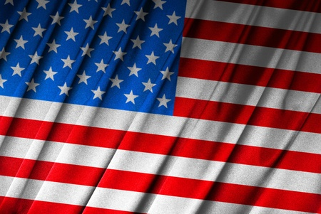 The USA - American flag in close-up Stock Photo - 9430509