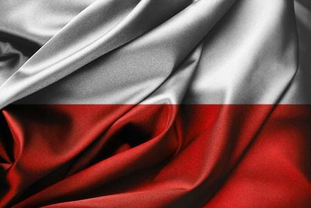 Poland - Polish flag in close-up Stock Photo - 9430505