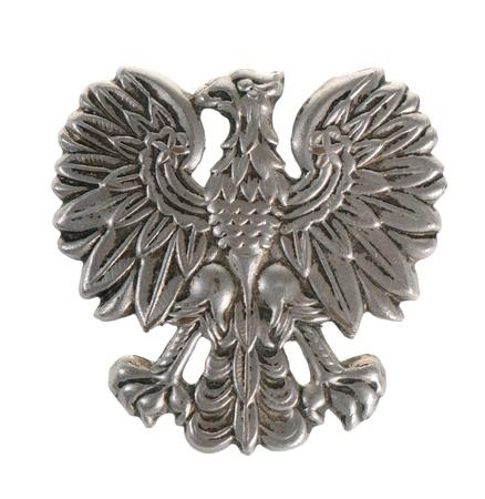 Old Polish police eagle isolated on white background photo