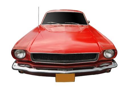 ford: Vintage auto geïsoleerd op witte achtergrond