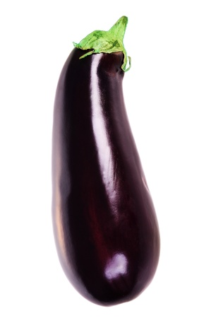 Aubergine isolated on white background Stock Photo