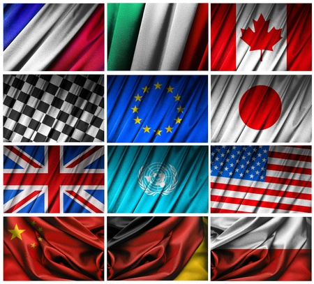 Assembling of flags on white background Stock Photo - 10563609
