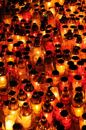 Lots of candles for All Souls Day Stock Photo - 11023657