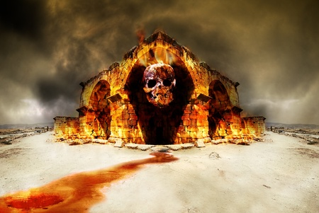 fire skull: Temple of death and destruction