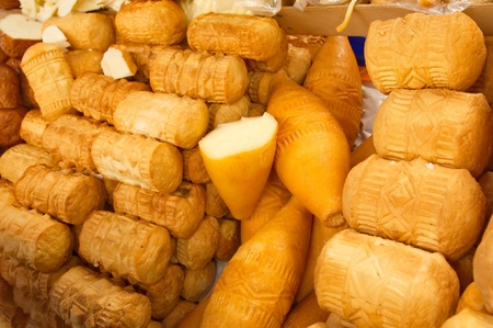oscypek: Traditional Polish smoked cheese called oscypek