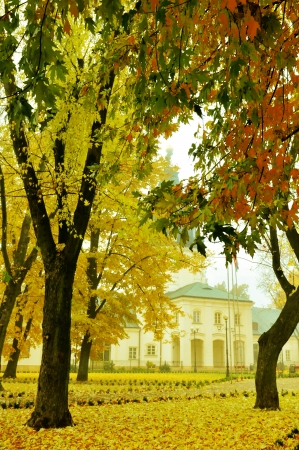 Town hall in Siedlce, Poland in autumn photo