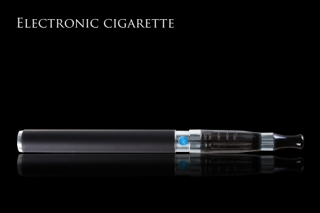 cigarette: Electronic cigarettes isolated on white background Stock Photo