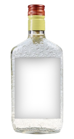 vodka: A bottle of vodka isolated on white background Stock Photo