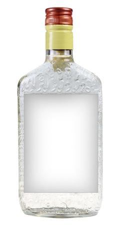 vodka bottle: A bottle of vodka isolated on white background Stock Photo
