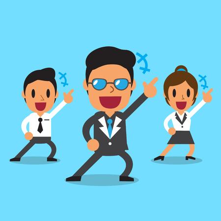 happy business team: Cartoon happy business team