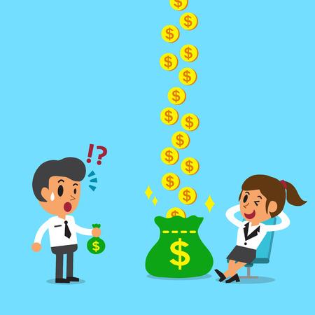 漫画リラックス実業家実業家よりももっとお金を稼いでいます。