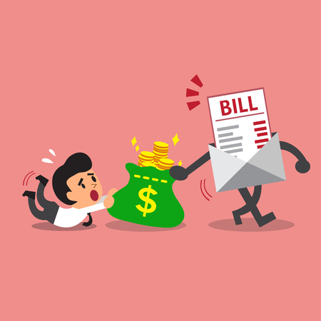 bill payment: Business concept bill payment getting money from a businessman