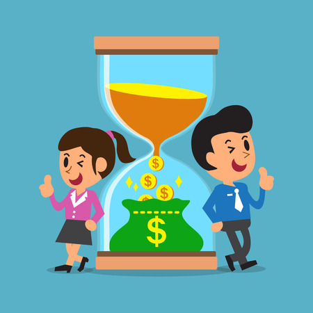 convert: Business concept convert time to money with business people
