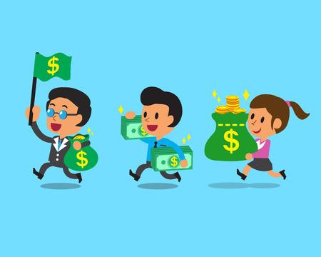 Bedrijfsconcepten commercieel team en geld