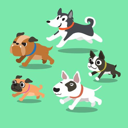 Cartoon Hunde laufen Standard-Bild - 47263238
