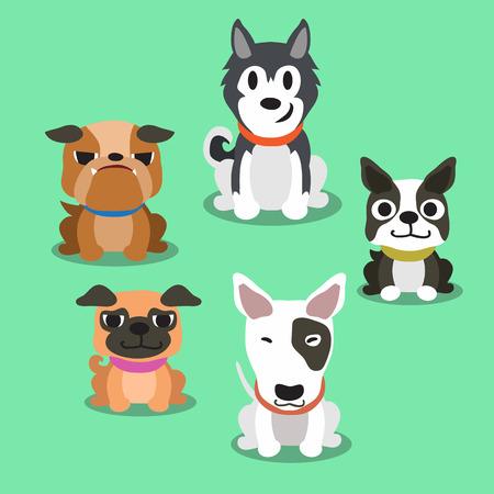 Cartoon Hunde stehen Standard-Bild - 47263245