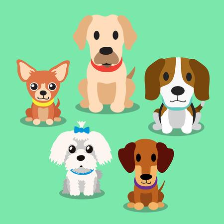 Cartoon Hunde stehen Standard-Bild - 47825427