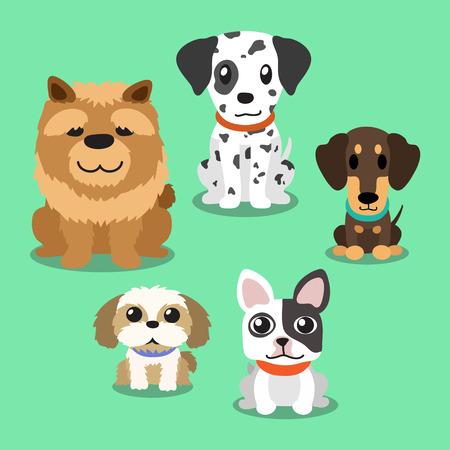 Perros de dibujos animados de pie