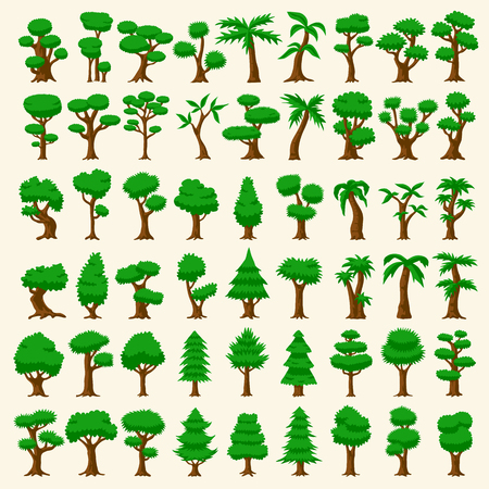 54: 54 Cartoon trees