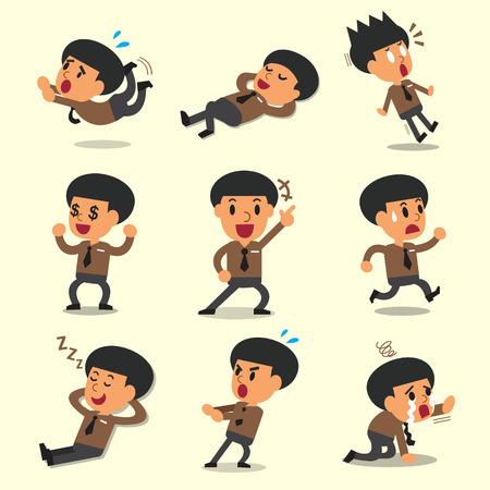 character poses: Cartoon businessman character poses