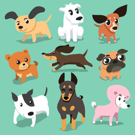 black: Vector cartoon dogs