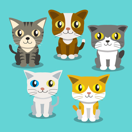 bombay: Cartoon cats standing Illustration
