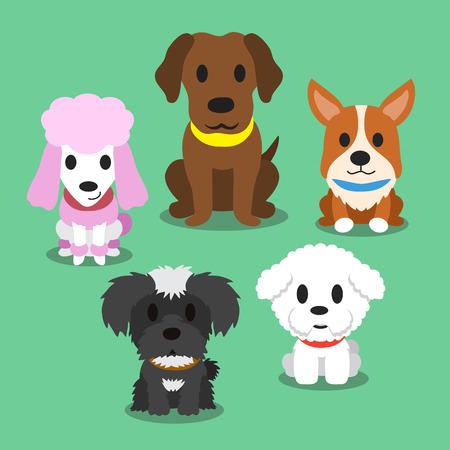 puppy dog: Cartoon dogs standing Illustration