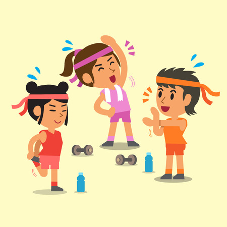 Cartoon sport women Illustration