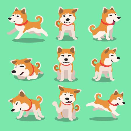 Cartoon Charakter Shiba Inu Hund Posen Standard-Bild - 51904651