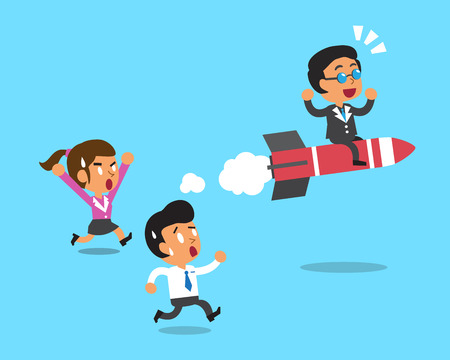 Business boss move faster than business team