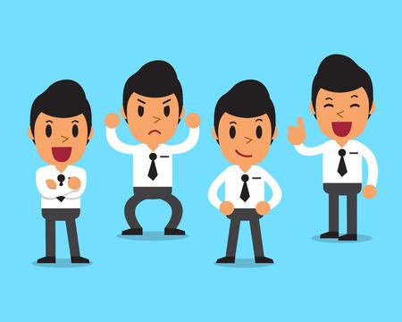 Cartoon Geschäftsmann Charakter Posen Standard-Bild - 54637668
