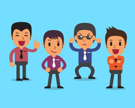 character poses: Cartoon businessmen character poses Illustration