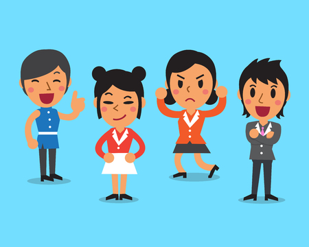 character poses: Cartoon businesswomen character poses Illustration