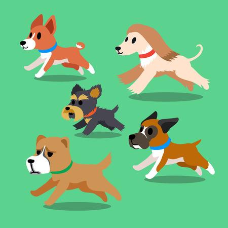 alabai: Cartoon dogs running Illustration