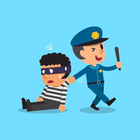 Cartoon Polizist und Dieb Standard-Bild - 54794559