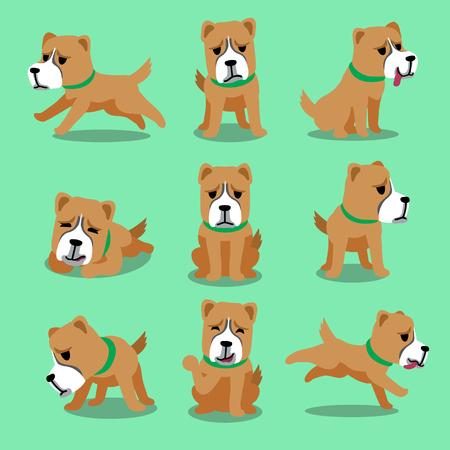alabai: Cartoon character alabai dog poses