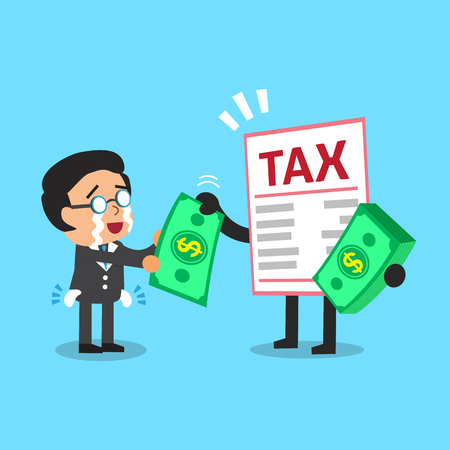 notice: Business concept tax letter character and a businessman Illustration