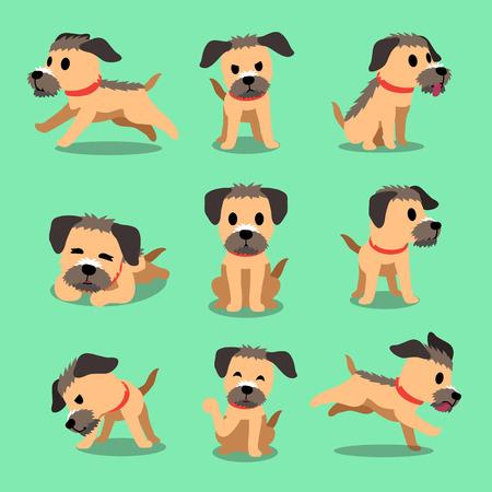 Cartoon Charakter Grenze Terrier Hund Posen Standard-Bild - 59601606